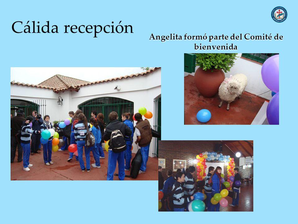 Cálida recepción Angelita formó parte del Comité de bienvenida