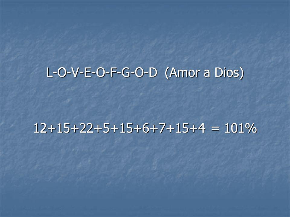 LUEGO, LUEGO, mira lo lejos que el amor a DIOS puede llevarte: