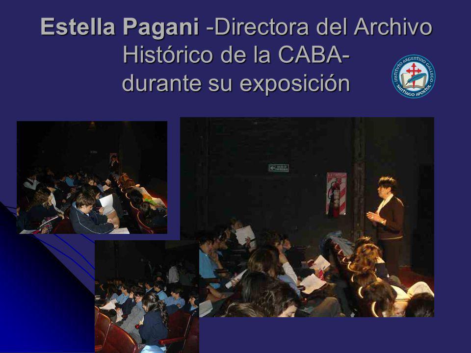 Estella Pagani -Directora del Archivo Histórico de la CABA- durante su exposición
