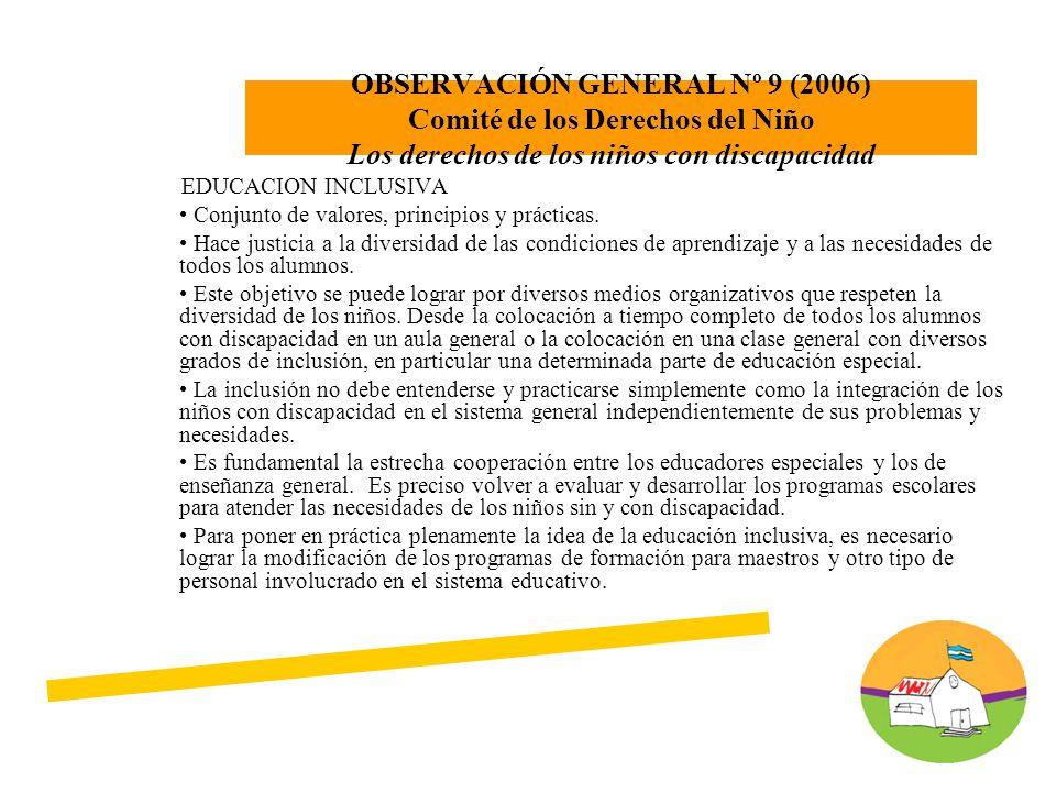 EDUCACION INCLUSIVA Conjunto de valores, principios y prácticas.