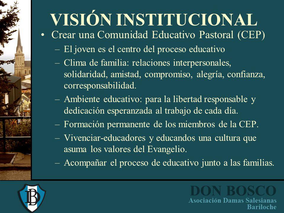DON BOSCO Asociación Damas Salesianas Bariloche NUESTRA IDENTIDAD INSTITUCIONAL IDEARIO DE ESCUELAS SALESIANAS Escuela Católica Salesiana: Educar evan