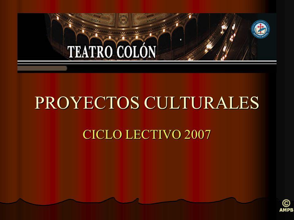 Proyecto: El Colón en la escuela Ciclo Preparación del espectador