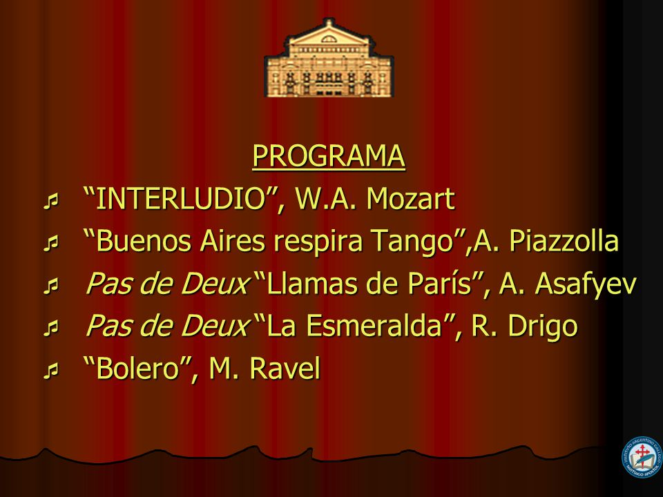 PROGRAMA PROGRAMA INTERLUDIO, W.A. Mozart INTERLUDIO, W.A.