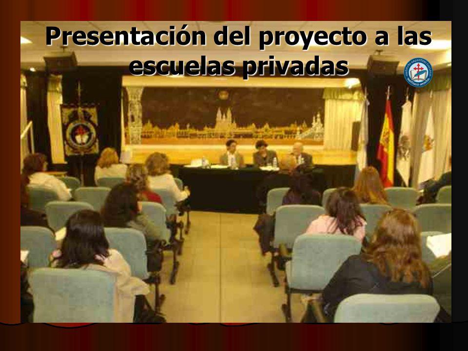 Presentación del proyecto a las escuelas privadas