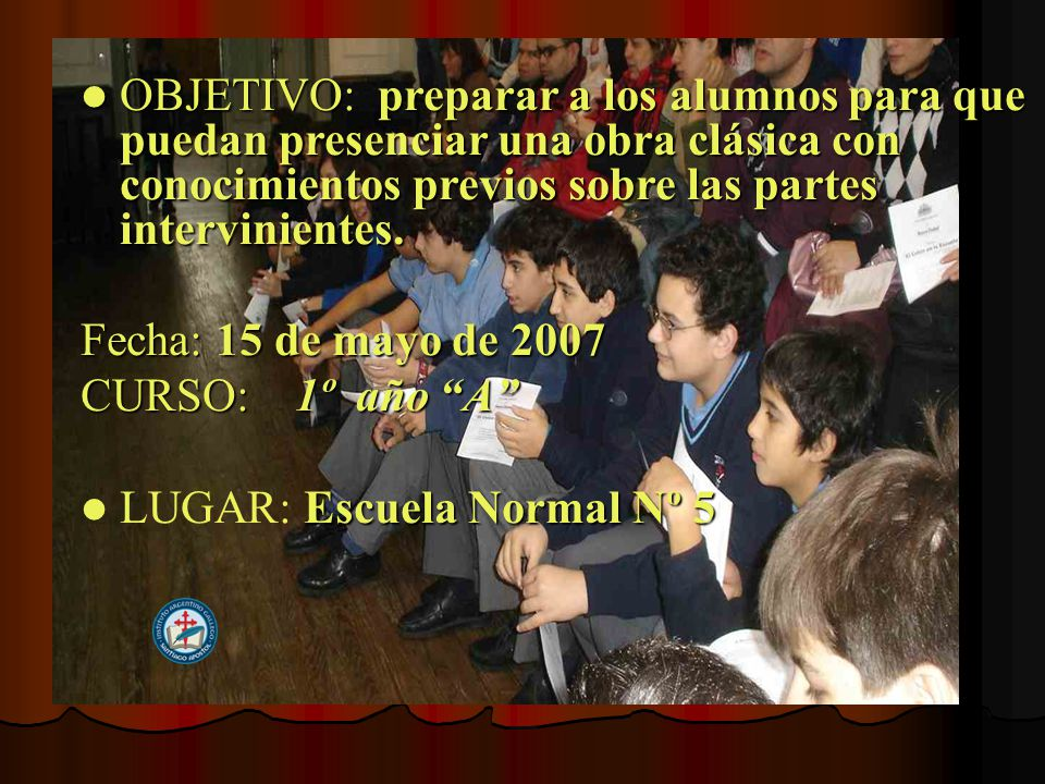 UN CICLO QUE SEGUIRA HASTA NOVIEMBRE Y el Colón llegó a la escuela, con música, danza y mucha emoción PASOS.