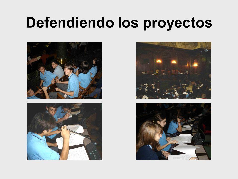 Defendiendo los proyectos