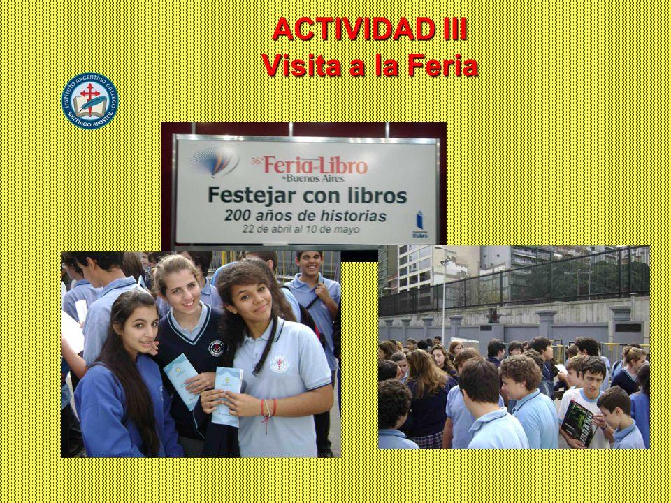 ACTIVIDAD III Visita a la Feria