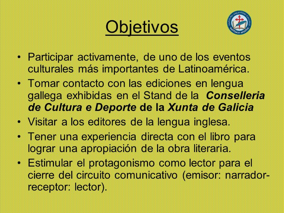 Objetivos Participar activamente, de uno de los eventos culturales más importantes de Latinoamérica.