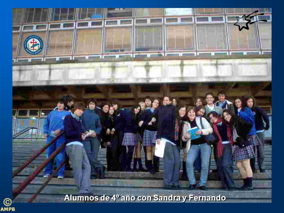 Alumnos de 4º año con Sandra y Fernando
