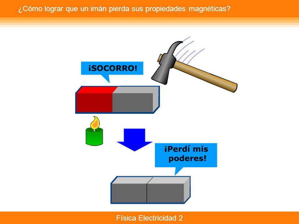 Física Electricidad 2 ¿Cómo lograr que un imán pierda sus propiedades magnéticas?
