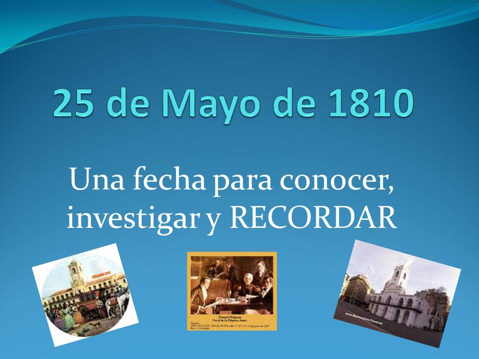 Una fecha para conocer, investigar y RECORDAR