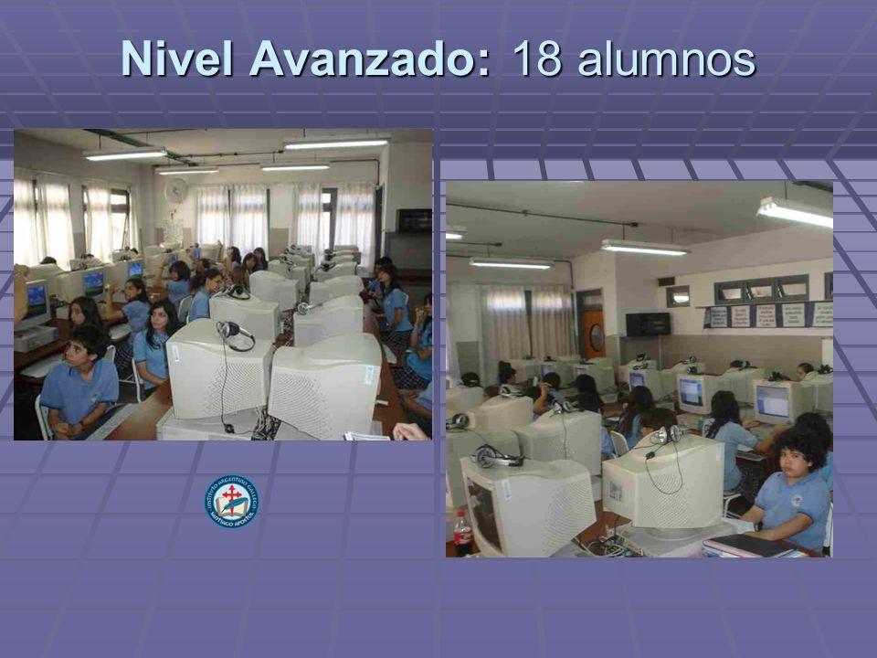 Nivel Avanzado: 18 alumnos