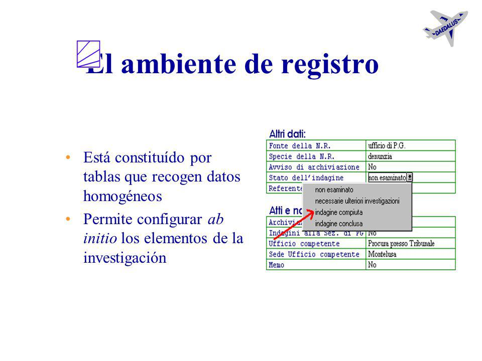 Gestión de la tabla Nuevas tablas Nuevos delitos Cambio de los datos Configuración de los parámetros Acción conclusiva propuesta Pena para el decreto