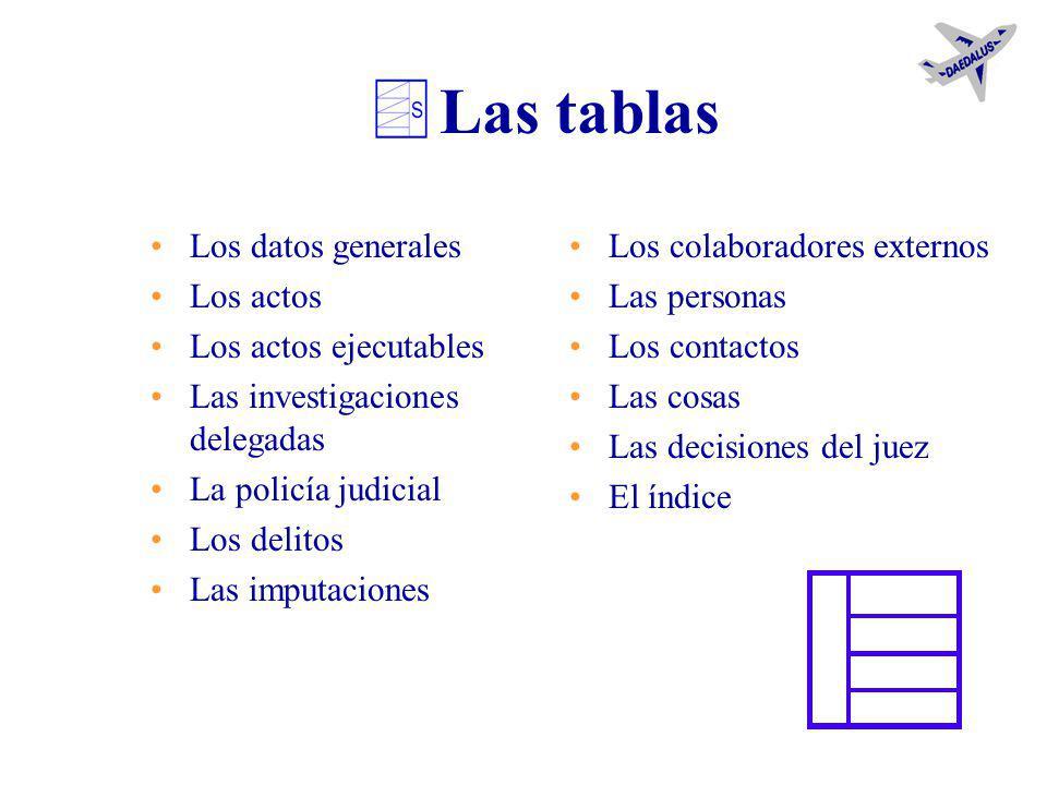 Los documentos para el juez Daedalus crea la lista de los documentos para el juicio. Lo hace automáticamente si el usuario, cuando en la investigación