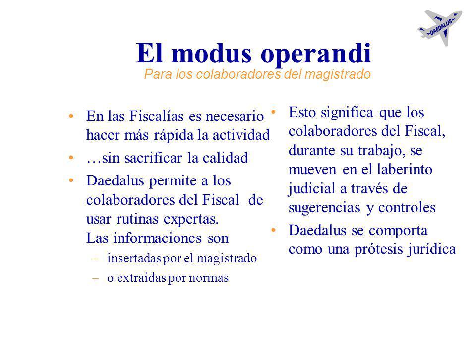 Apoyo del flujo de la actividad del Fiscal a través de –el análisis de la actividad de investigación –la disponibilidad de ambientes –el intercambio d