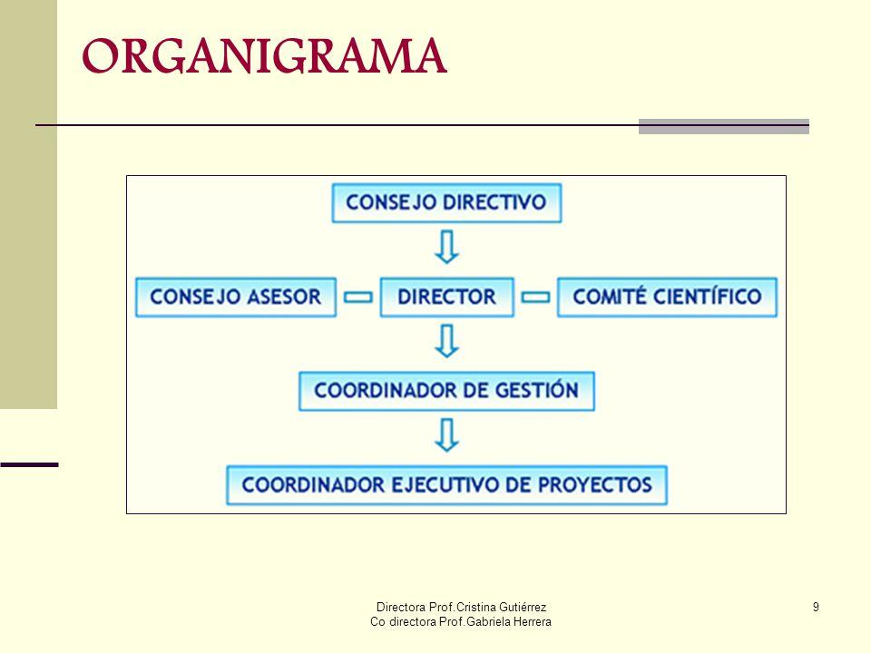 Directora Prof.Cristina Gutiérrez Co directora Prof.Gabriela Herrera 9 ORGANIGRAMA