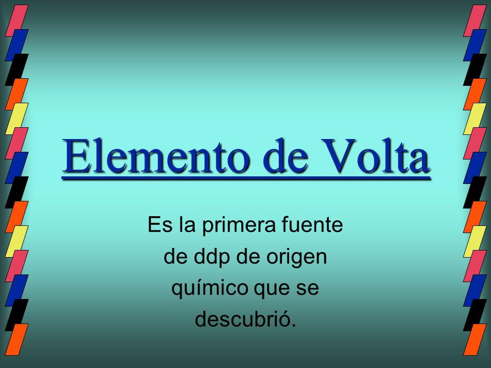 Partes del elemento de Volta