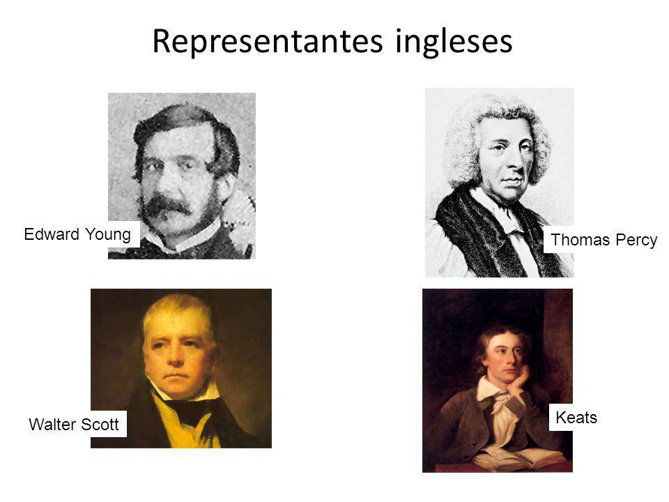 Representantes ingleses Edward Young Thomas Percy Walter Scott Keats