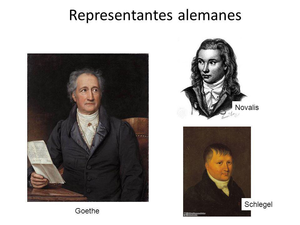 Representantes alemanes Goethe Novalis Schlegel