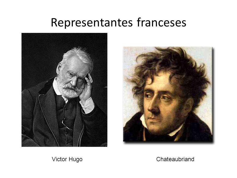 Representantes franceses Victor HugoChateaubriand
