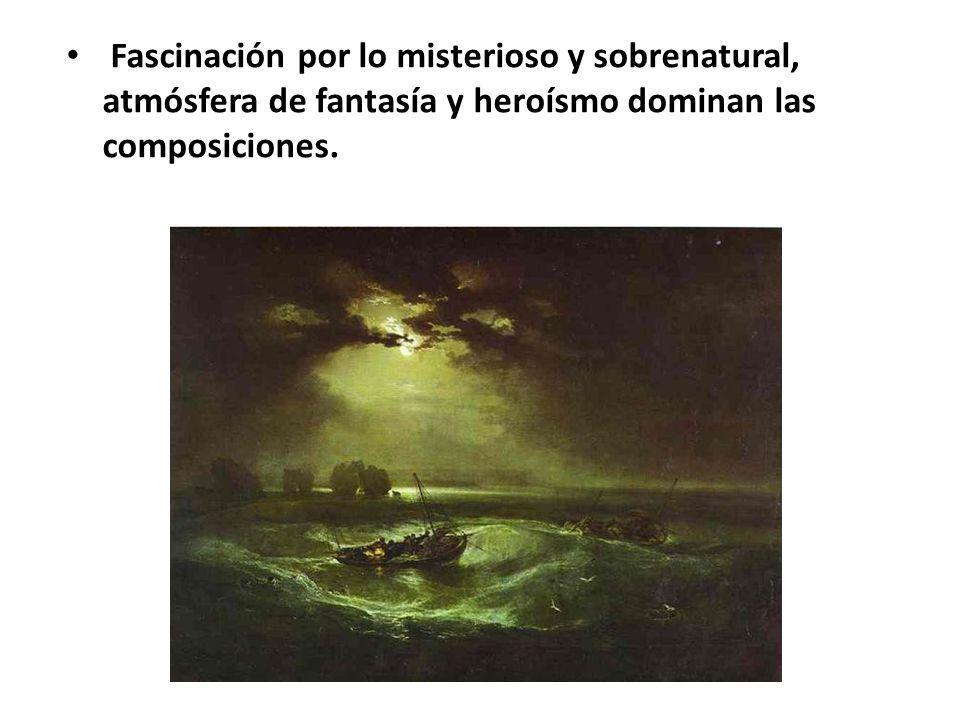 Lo subjetivo, irracional e imaginativo dio paso a la belleza inalcanzable, ideal y sublime.
