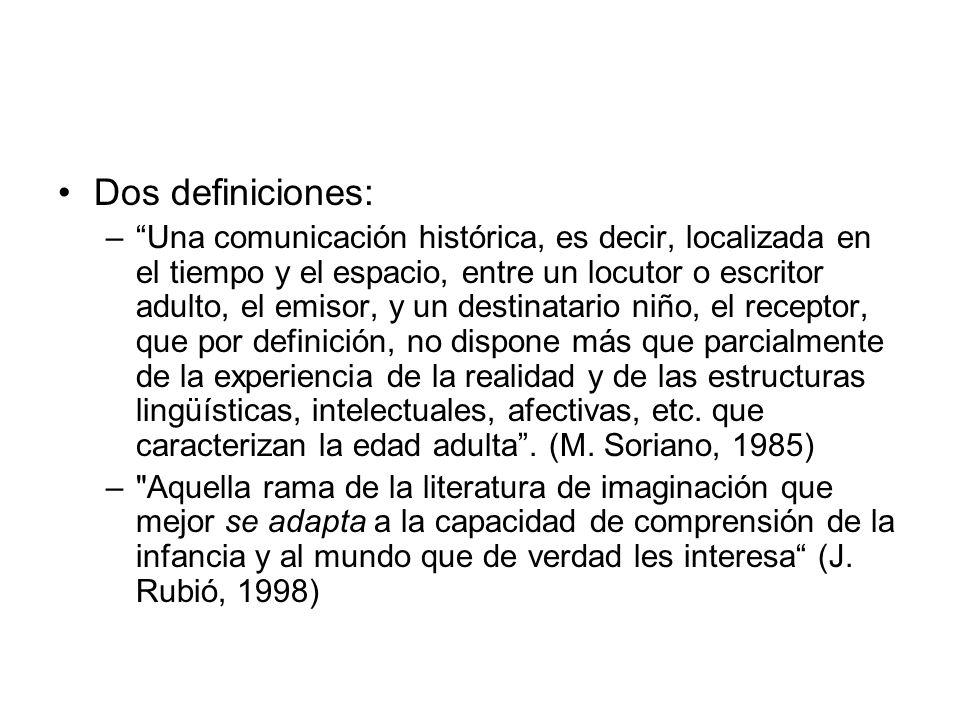 Dos definiciones: –Una comunicación histórica, es decir, localizada en el tiempo y el espacio, entre un locutor o escritor adulto, el emisor, y un des
