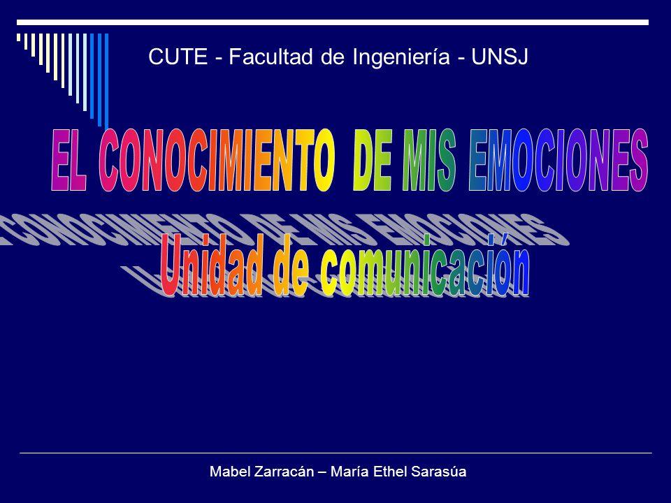 CUTE - Facultad de Ingeniería - UNSJ Mabel Zarracán – María Ethel Sarasúa