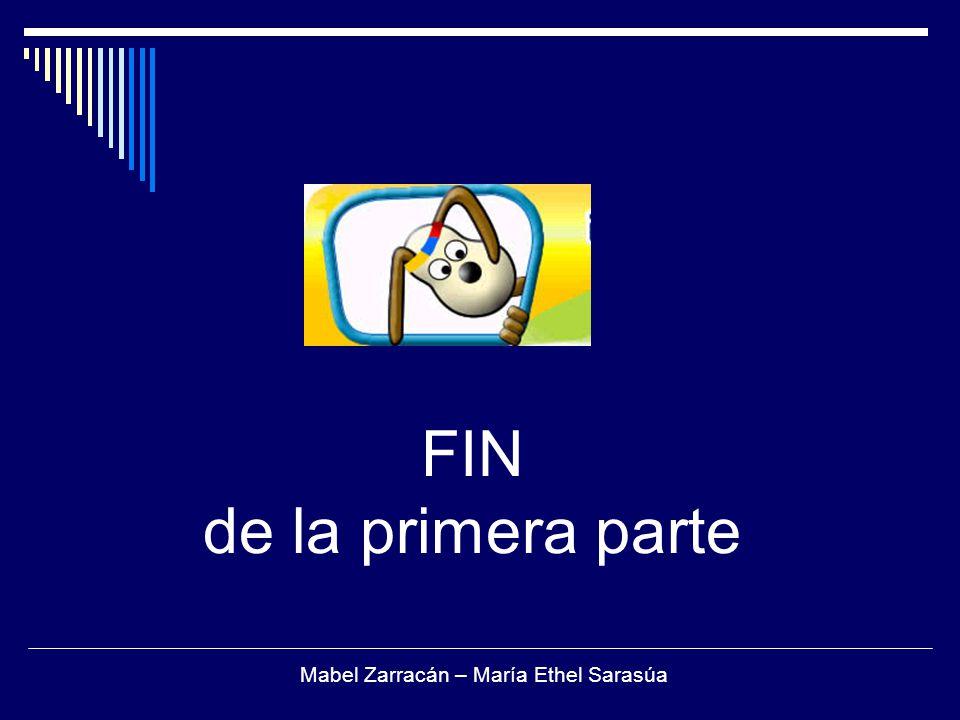 FIN de la primera parte Mabel Zarracán – María Ethel Sarasúa