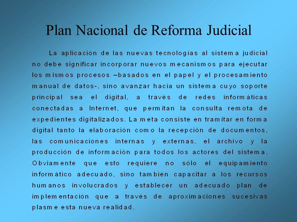 Plan Nacional de Reforma Judicial