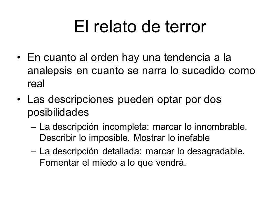 El relato de terror Finales: –Abiertos.