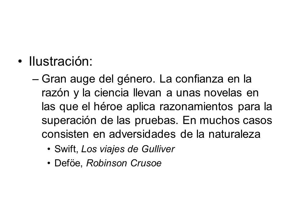 Romanticismo: –Desconfianza en la razón.Predominio de la fuerza natural.