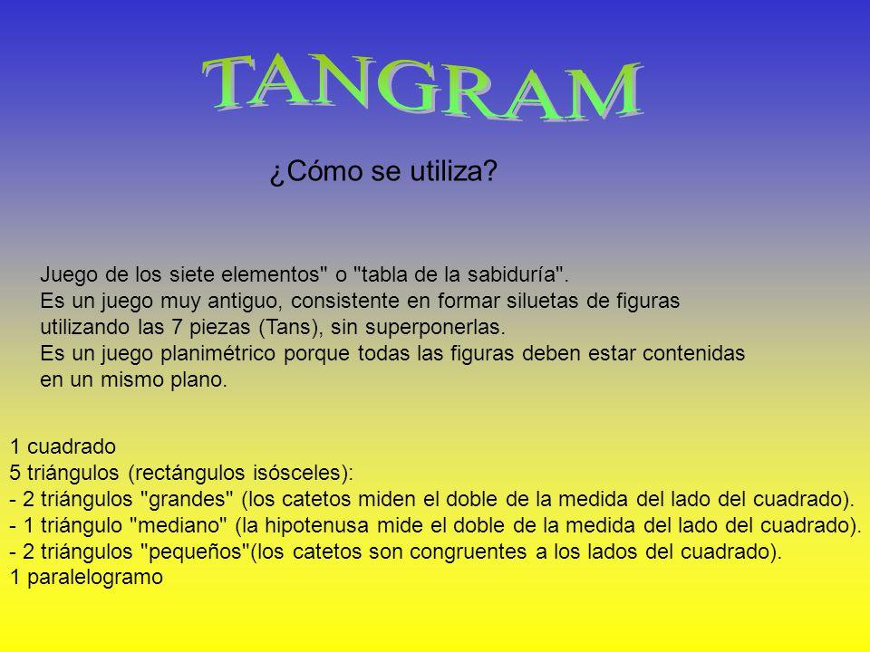 El Tangram (chino:, pinyin: qī qiǎo bǎn;