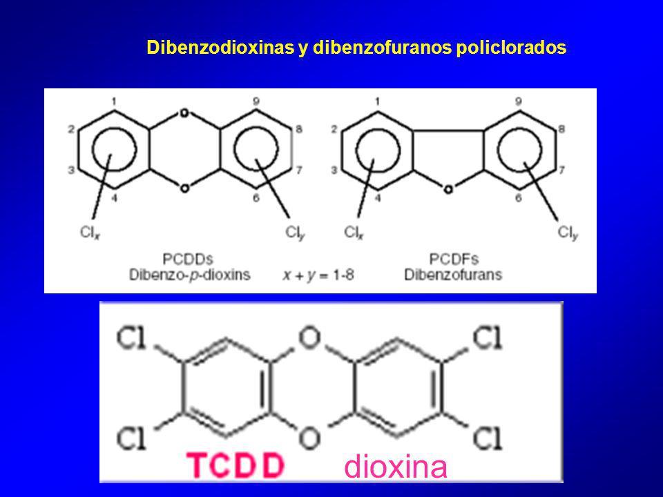 Dibenzodioxinas y dibenzofuranos policlorados dioxina