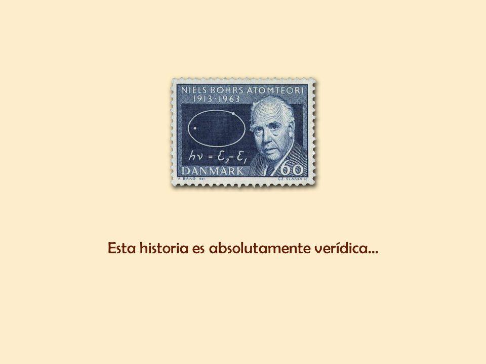 El estudiante se llamaba Niels Bohr, físico danés, premio Nobel de Física en 1922, más conocido por ser el primero en proponer el modelo de átomo con