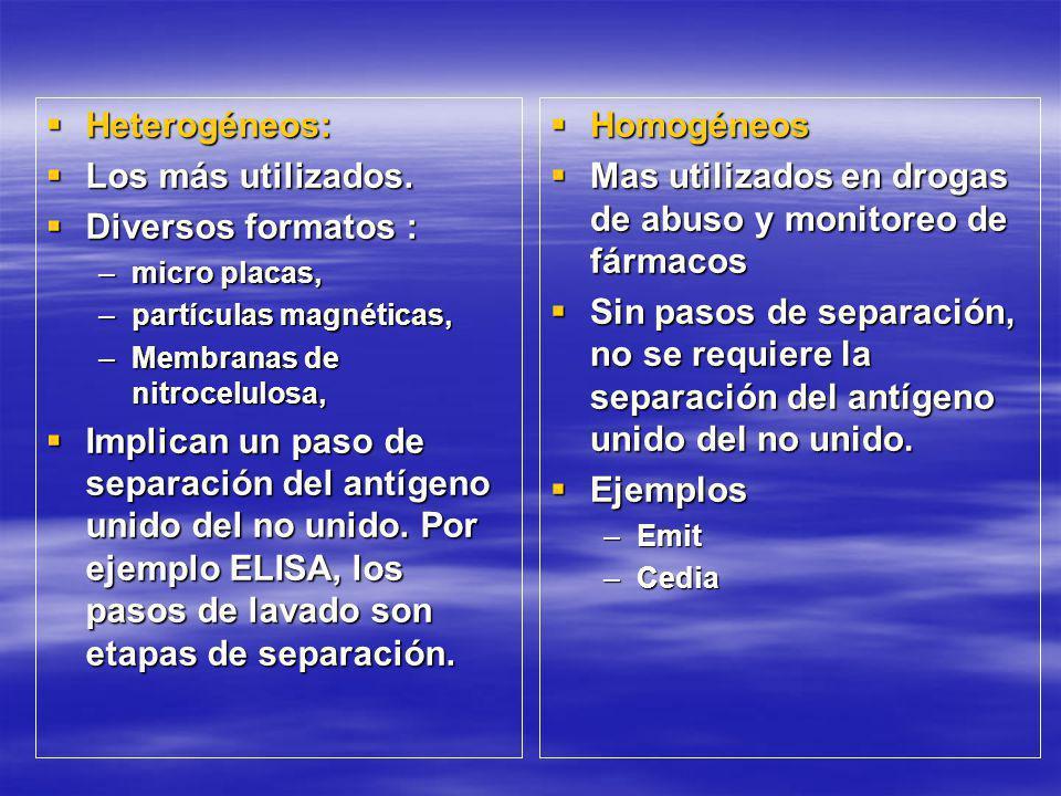 Heterogéneos: Heterogéneos: Los más utilizados.Los más utilizados.