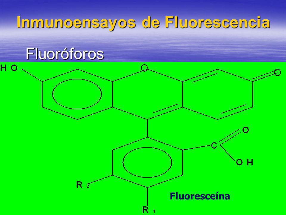 Fluoróforos Fluoresceína Inmunoensayos de Fluorescencia