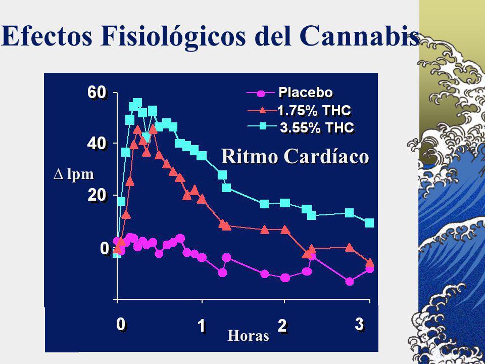 Efectos Fisiológicos del Cannabis Horas lpm lpm Ritmo Cardíaco