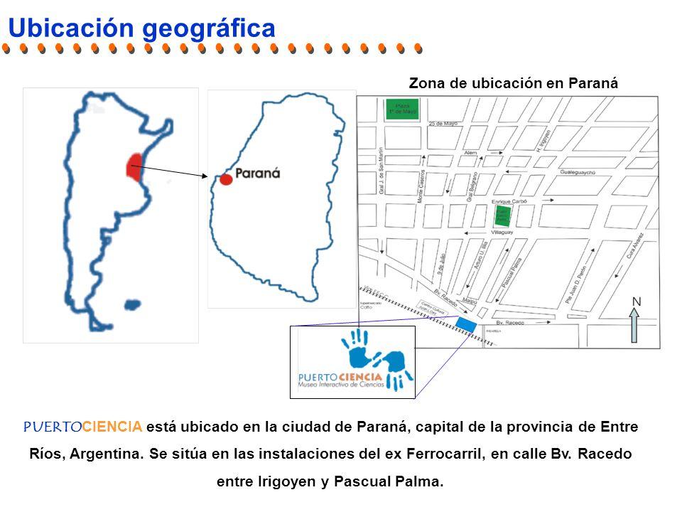 Ubicación geográfica PUERTOCIENCIA está ubicado en la ciudad de Paraná, capital de la provincia de Entre Ríos, Argentina.