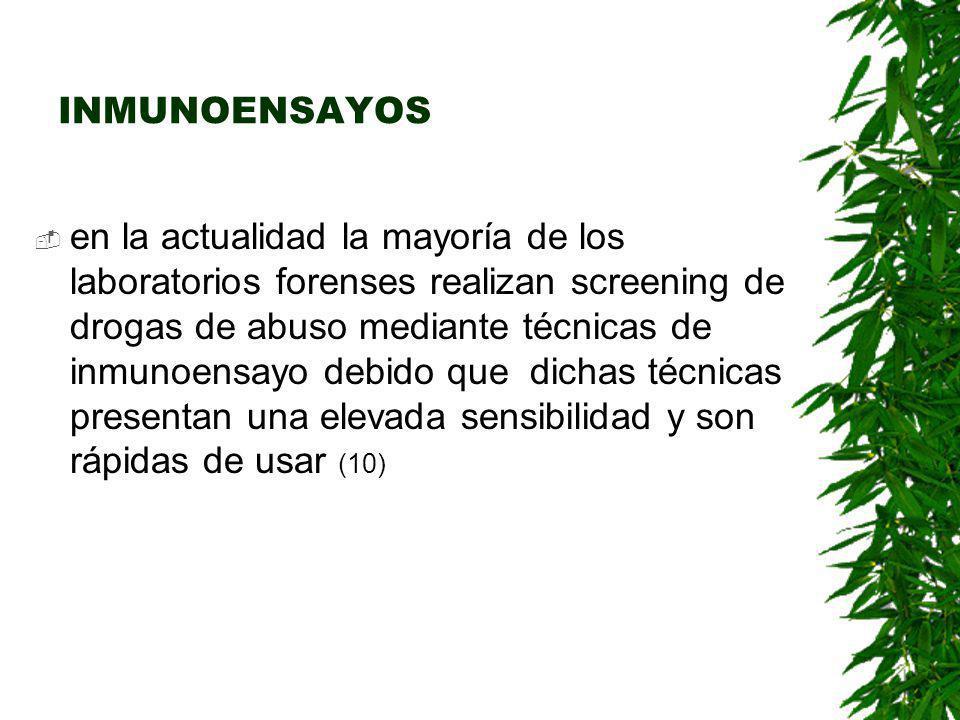Orina La orina es el fluido biológico preferido para el análisis de uso de drogas ilegales y sus metabolitos.