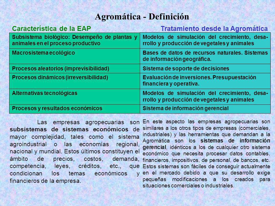 Dispersión espacial Otra característica que diferencia a las empresas agropecuarias de cualquier otro tipo de organización económica es su obligada dispersión espacial.