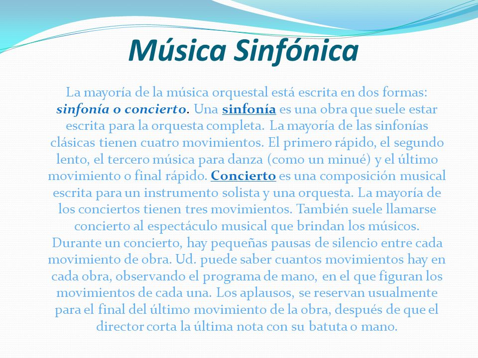 Música Clásica El término