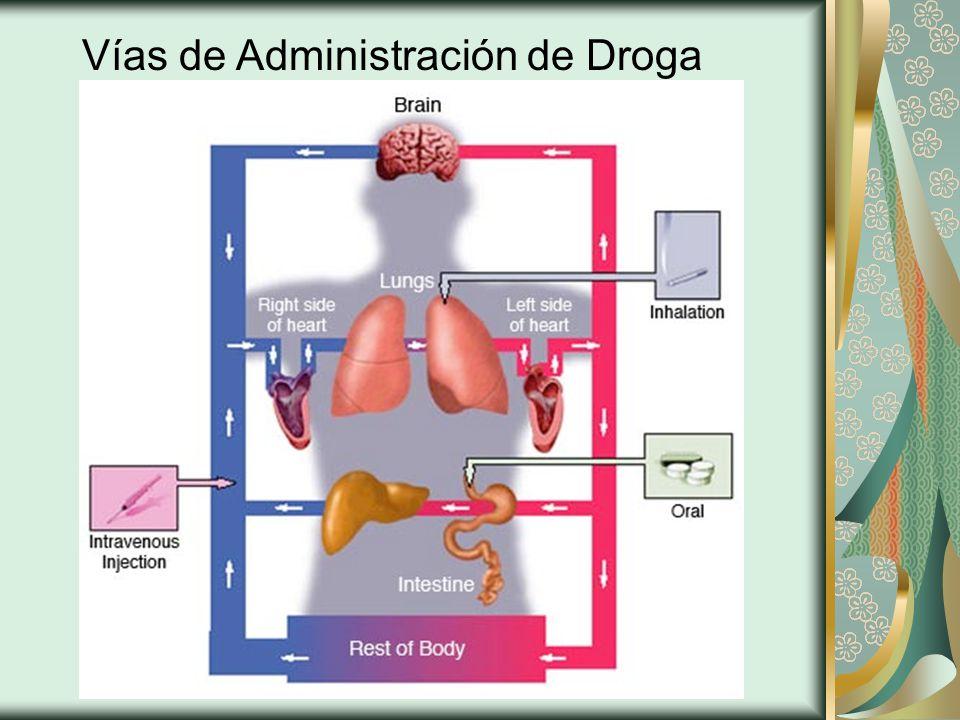 Vías de Administración de Droga