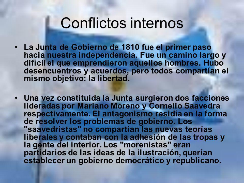Antecedentes a la independencia Como primera medida se envió una Circular al interior informando acerca de los acontecimientos en Buenos Aires y pedir