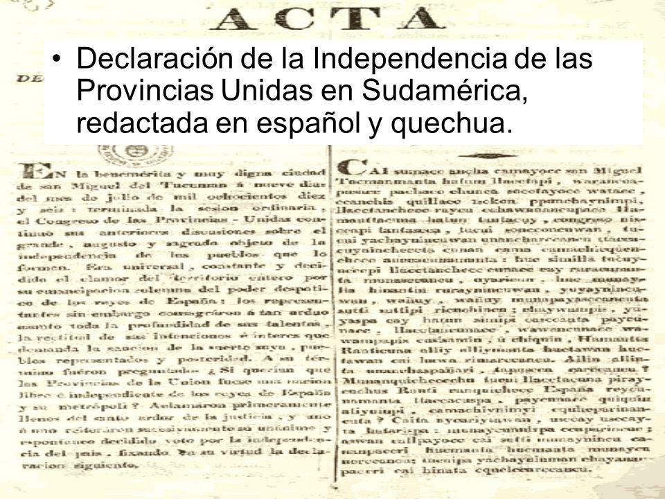 El congreso de Tucumán El Congreso de Tucumán, que declaró la Independencia el 9 de Julio de 1816, en 1817 se trasladó a Buenos Aires donde estuvo reu