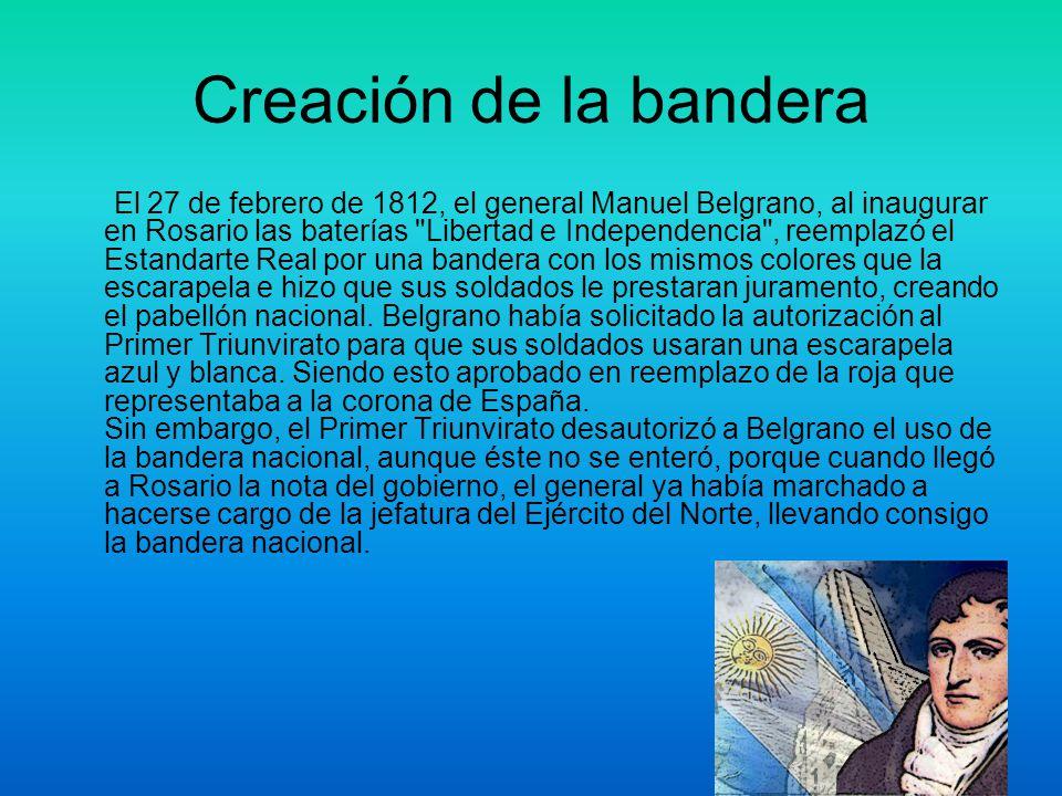 Creación de la Bandera Argentina Nombre: Rocío Silva Grado:5º B