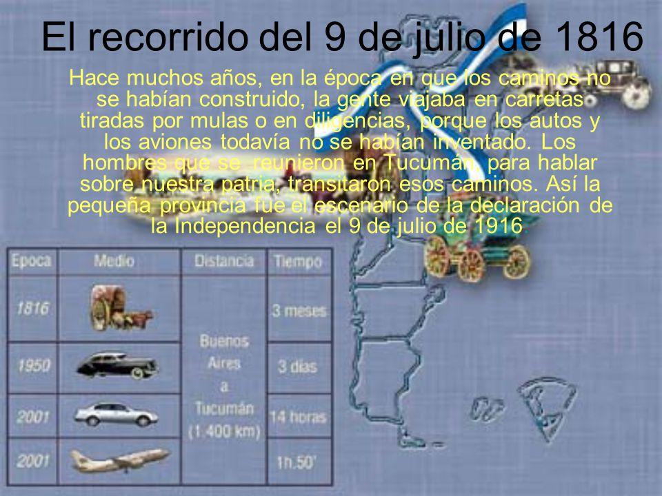 El recorrido del 9 de julio de 1816 FRANCO BERTINO 5º B