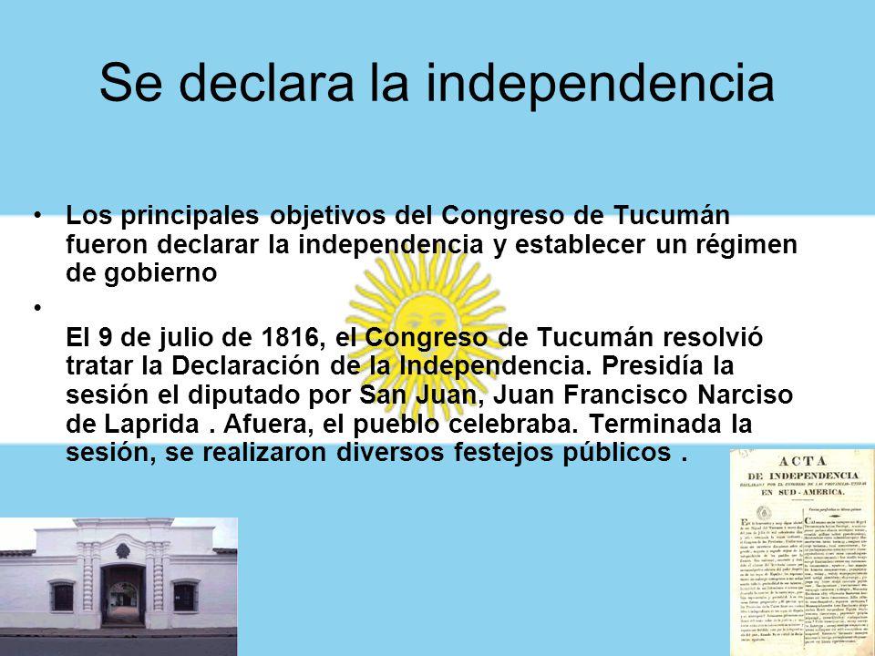 La apertura del Congreso Se acordó la apertura del Congreso cuando estuvieran presentes los dos tercios de los diputados. Se declaró abierto el 24 de