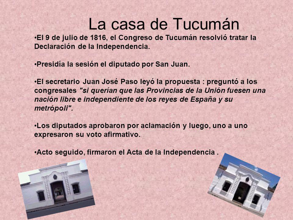 La casa de Tucumán 9 de julio de 1816 MERLINA Baya Lastra 5 B