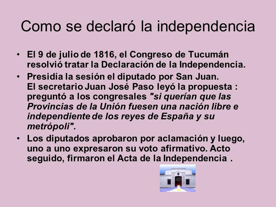 Congreso de Tucumán Ayelén Jaramillo 5° B