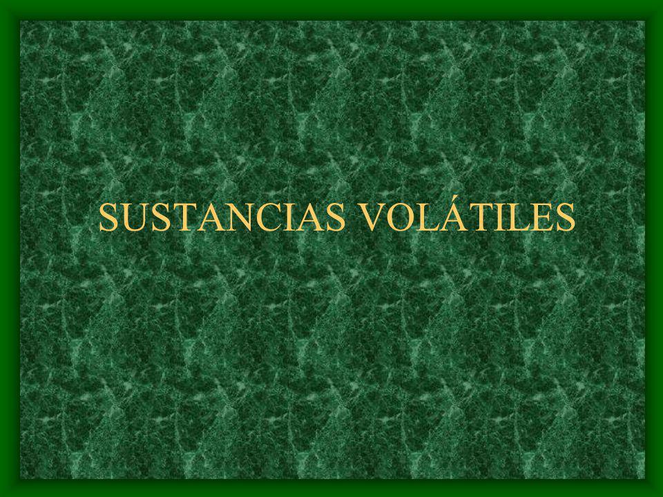 SUSTANCIAS VOLÁTILES
